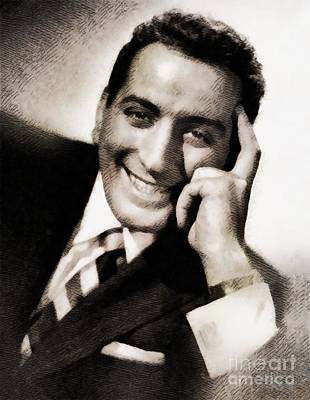 Music Royalty-Free and Rights-Managed Images - Tony Bennett, Music Legend by John Springfield by John Springfield