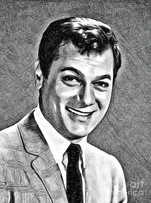 Curtis Drawing - Tony Curtis, Vintage Actor By Js by John Springfield