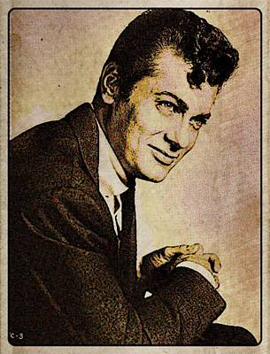 John Wayne Digital Art - Tony Curtis Vintage Hollywood Actor by Esoterica Art Agency
