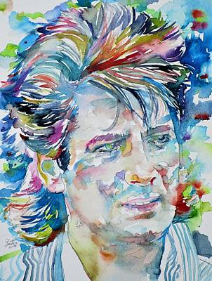 Painting - Tony Hadley - Spandau Ballet - Watercolor Portrait by Fabrizio Cassetta