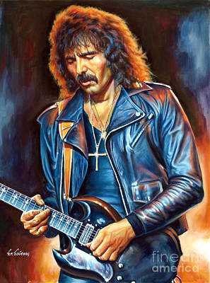 Dio Painting - Tony Iommi - Black Sabbath by Spiros Soutsos