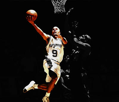 Tony Parker Left Hand Art Print by Brian Reaves