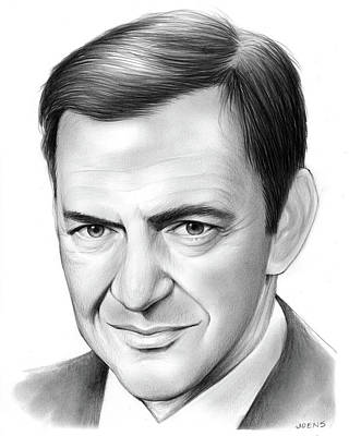 Sketch Drawing - Tony Randall by Greg Joens