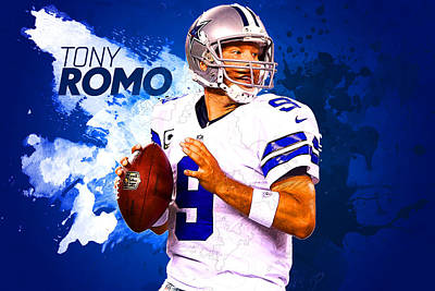 Tony Romo Art Print by Semih Yurdabak