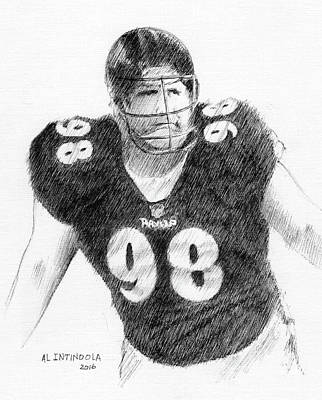 Drawing - Tony Siragusa by Al Intindola