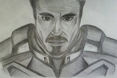 Robert Downey Jr Drawing Drawing - Tony Stark by Andrew Chan
