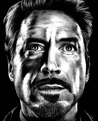 Drawing - Tony Stark by Rick Fortson