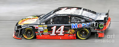 Tony Stewart Photograph - Tony Stewart At Bristol Motor Speedway Driving Wrecked #14 Bass  by David Oppenheimer