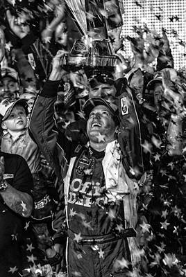 Tony Stewart Photograph - Tony Stewart Wins by Kevin Cable
