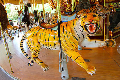 Photograph - Tony The Tiger Carousel  by Carlos Diaz