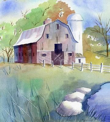 Tony's Barn Art Print by Marsha Elliott