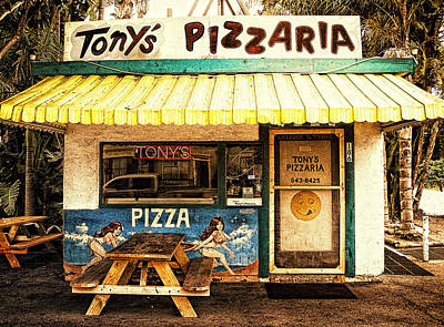 Tony's Pizzaria Art Print by Ron Regalado