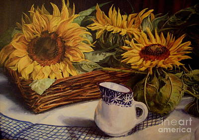 Painting - Tony's Sunflowers by Beatrice Cloake