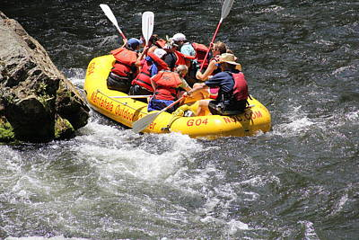 Photograph - Too Close Rafting by Allen Nice-Webb