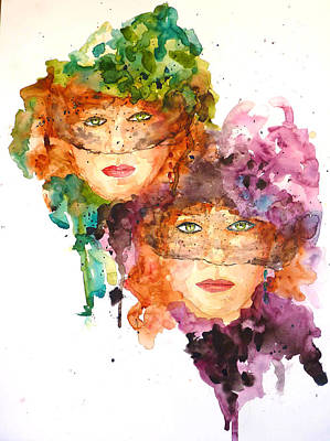 Art Print featuring the painting Too Faced by P Maure Bausch