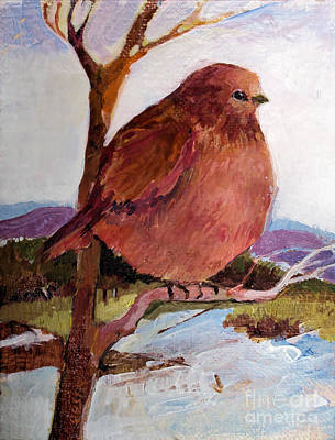 Art Print featuring the painting Too Fat To Fly by Diane Ursin