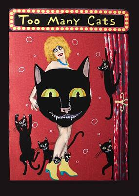 Too Many Black Cats Art Print