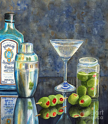 Martini Painting Royalty Free Images - Too Many Doubles Royalty-Free Image by Karen Fleschler