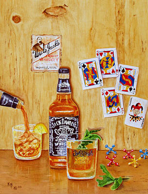 Painting - Too Many Jacks by Karen Fleschler