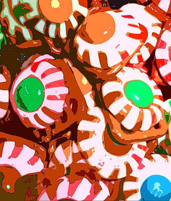 Pretzels Photograph - Too Much Christmas Eyeballs by Mindy Newman