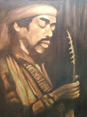 Jimmy Hendrix Painting - Too Soon by LaBadie