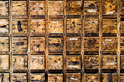 Photograph - Drawers by M G Whittingham