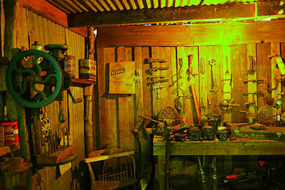 Tool Shed Print by Jeff Swan