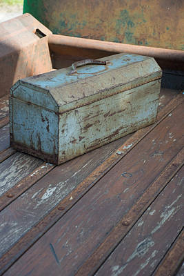 Toolbox In A Rusty Old Chevy Print by Don Columbus