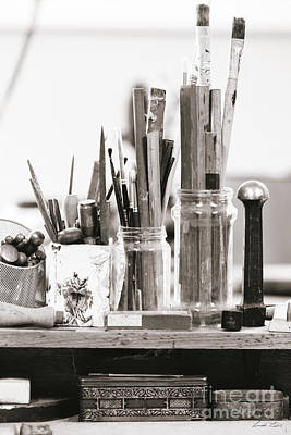 Photograph - Tools Of The Artist by Linda Lees