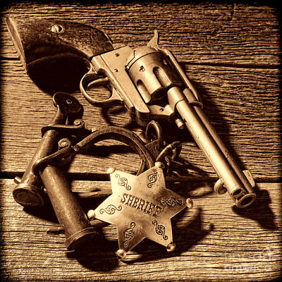 Photograph - Tools Of Western Justice by American West Legend By Olivier Le Queinec