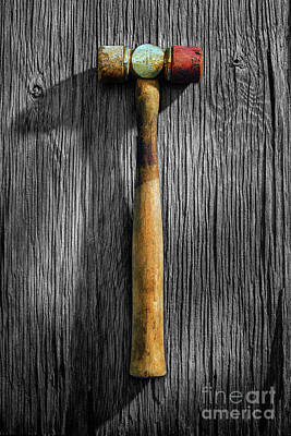 Photograph - Tools On Wood 20 On Bw by YoPedro