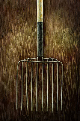 Tools On Wood 21 Art Print by Yo Pedro