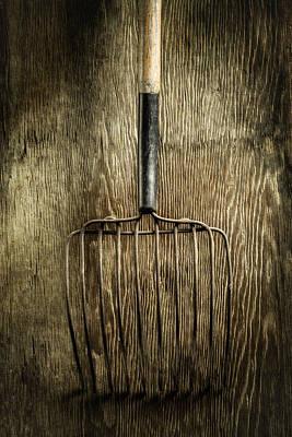 Tools On Wood 25 Art Print by Yo Pedro