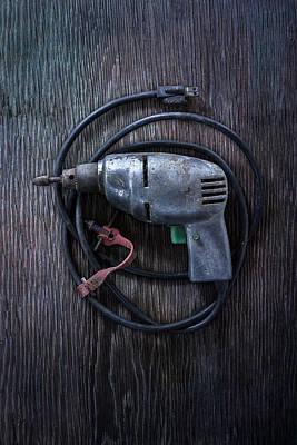 Tools On Wood 29 Art Print