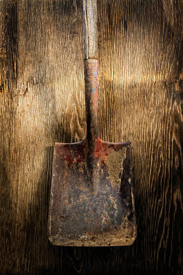 Old Shovels Photograph - Tools On Wood 4 by Yo Pedro