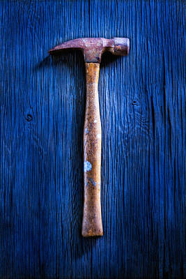 Hand-built Photograph - Tools On Wood 41 by YoPedro