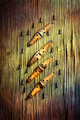 Tools On Wood 46 Art Print by YoPedro