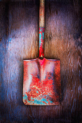 Spading Photograph - Tools On Wood 47 by YoPedro