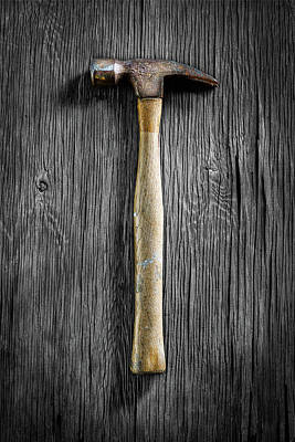Photograph - Tools On Wood 49 On Bw by YoPedro