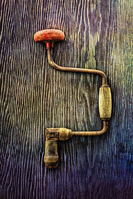 Tools On Wood 58 Art Print