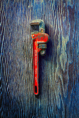 Red Monkey Photograph - Tools On Wood 62 by YoPedro