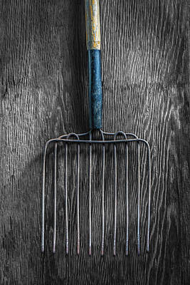 Photograph - Tools On Wood 66 On Bw by YoPedro