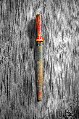 Photograph - Tools On Wood 71 On Bw by YoPedro