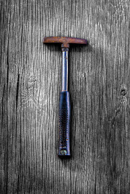 Photograph - Tools On Wood 74 On Bw by YoPedro