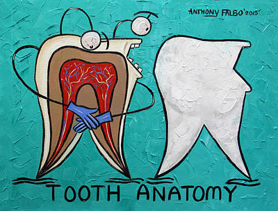 Knock Digital Art - Tooth Anatomy by Anthony Falbo