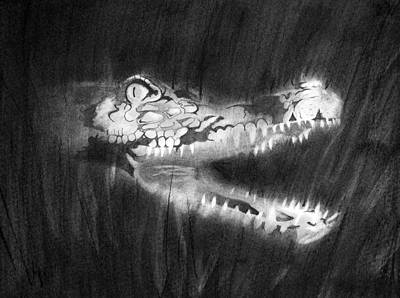 Drawing - Toothy Smile by Joseph Palotas