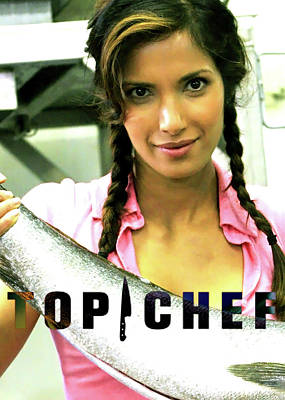 Salmon Mixed Media - Top Chef, Padma Lakshmi by Thomas Pollart