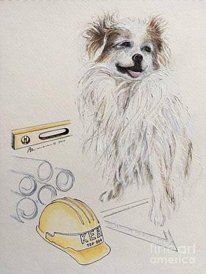 Top Dog Art Print by Barbara Chase