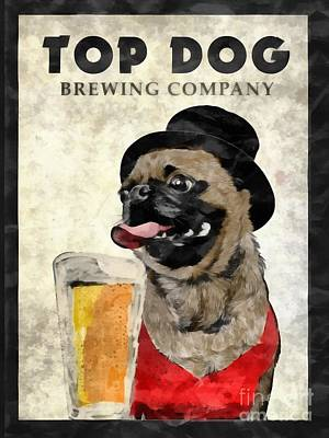 Canines Digital Art - Top Dog Brewing Company by Edward Fielding