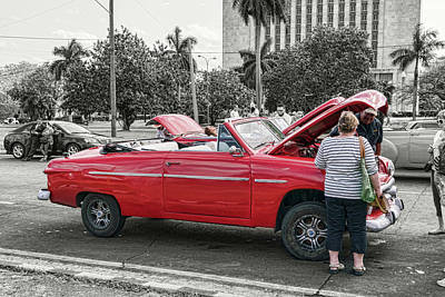 Photograph - Top Down In Cuba by Sharon Popek